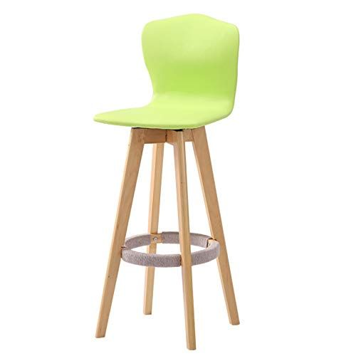 Barstools Solid Wood Bar Chair High Back Creative Wood Leather