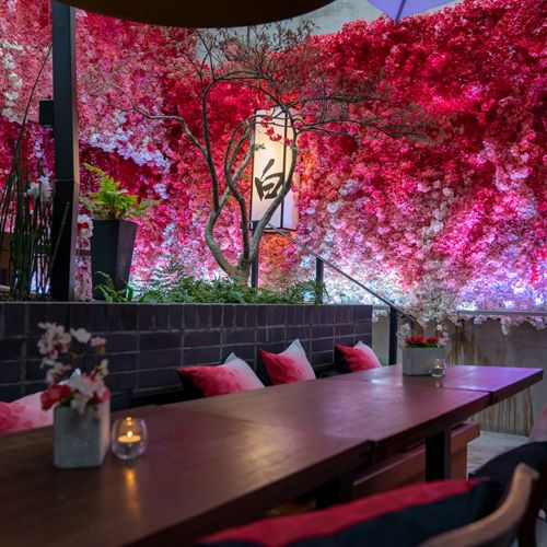 Nobu Hotel London Shoreditch Artificial Blossoming Cherry Trees As Restaurant Decor Hip Lobby With A London Hotels Hotel Architecture Shoreditch London