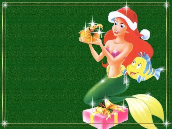 Disney Christmas Wallpaper | Princess Ariel - Disney Princess Wallpaper (6396021) - Fanpop fanclubs