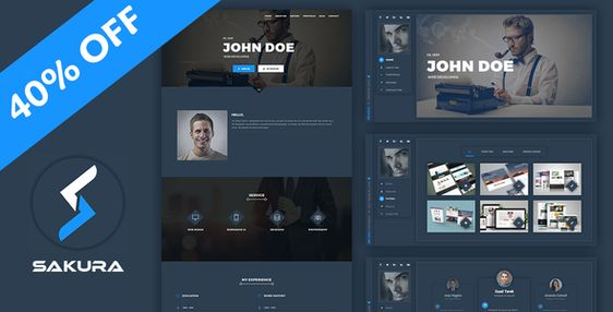 Jab - Advanced Personal Resume \/ CV vCard Theme Resume cv and - wordpress resume theme