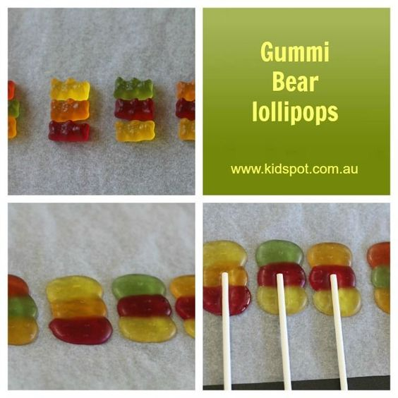 Gummi Bear Lollipops Recipe - Confectionery