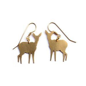 Fawn Earrings Brass