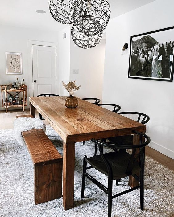 35 Gorgeous Modern Bohemian Dining Room Ideas Dining Room Table