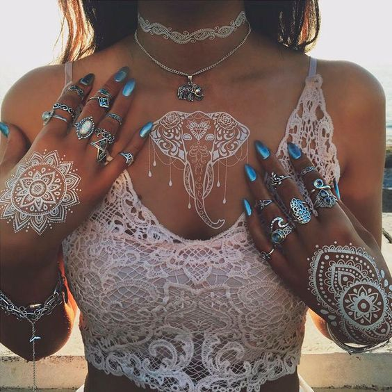 Vibe Tribe    Coachella    Burning Man    SXSW    Hippie    Boho    White Henna    Elephant    Gypsy    Bohemian