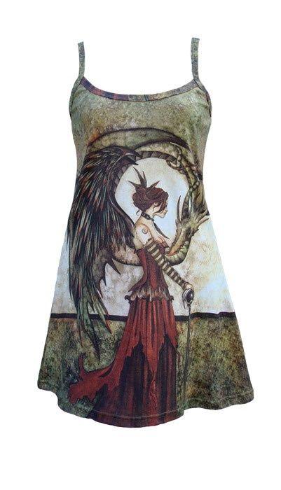 My Gothic Self / Amy Brown fairy dress - Summer Goth??