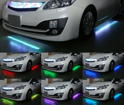 7 Color 126 Rgb Led Light Strip Under Car Truck Suv Underbody Glowing Remote Kit Ebay Car