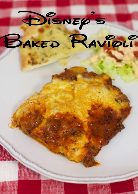 Baked Ravioli - Frozen ravioli smothered with a homemade meat sauce ...