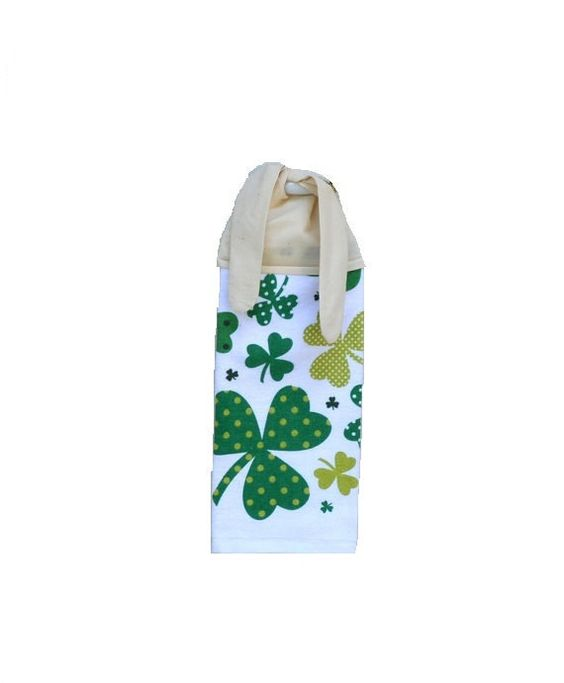 Shamrock Kitchen Towel Irish Decor Shamrock Towel by SuesAkornShop