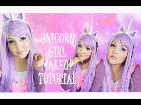 ▶Unicorn Girl makeup tutorial Especial de Halloween - YouTube