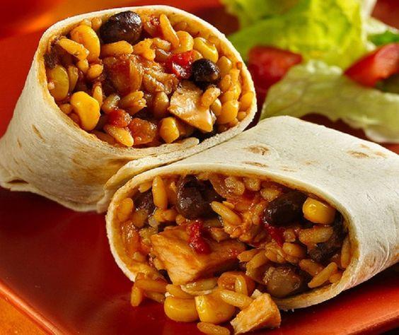 Chicken Bean Burritos