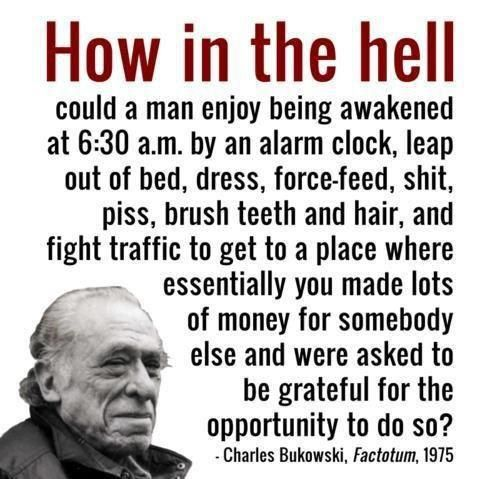 Charles Bukowski Puts Life In Perspective [Pic] | I Am Bored