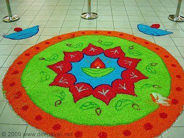 Beautiful Diwali Rangoli Design