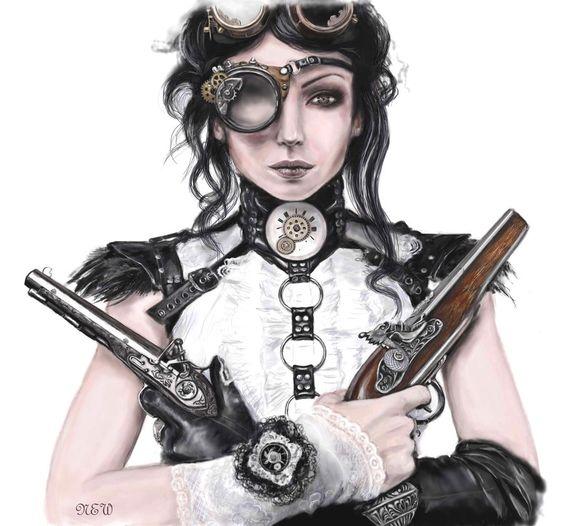 Resultado de imagem para steampunk girls art