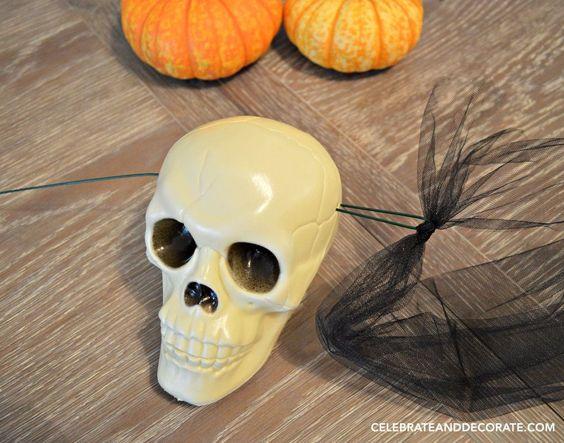 Make a Dollar Store Skull Halloween Garland