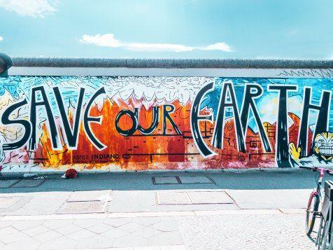 Save Our Earth East Side Gallery Street Art Berlin Germany Berlin