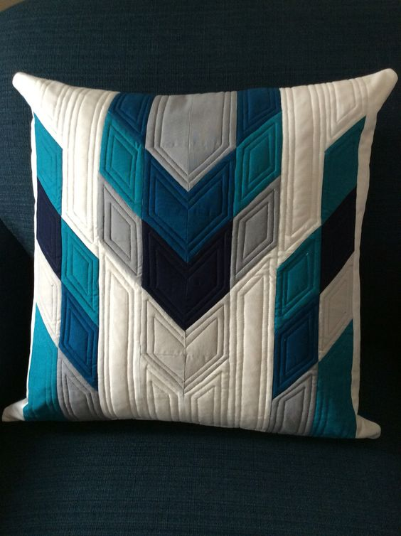 The latest pillow designed by karma kitten quilts.