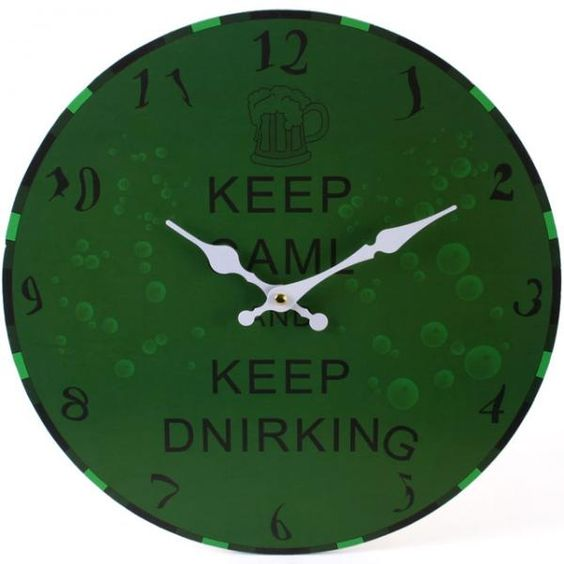 Keep Calm Novelty Drinking Clock by Miss Peculiar - rockedout.com