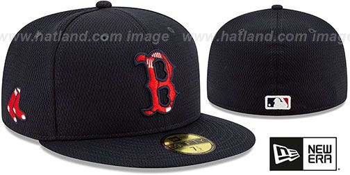 Boston Red Sox Dashmark Bp Navy Fitted Hat By New Era Red Sox