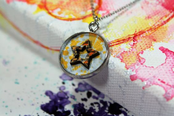 Made to Order India Ink Color Charms with by TheFarPavilion