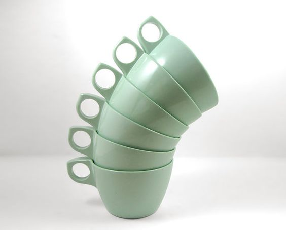 Set of 6 Melmac Cups by RuggyDesign on Etsy, $10.00