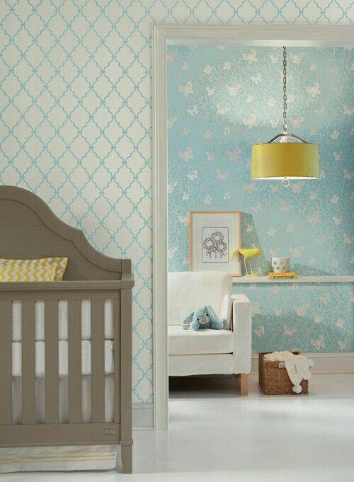 Papel tapiz para cuarto de bebé  Recámaras Infantiles ...