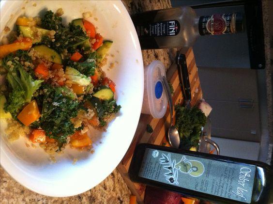 antioxidant warm quinoa bowl