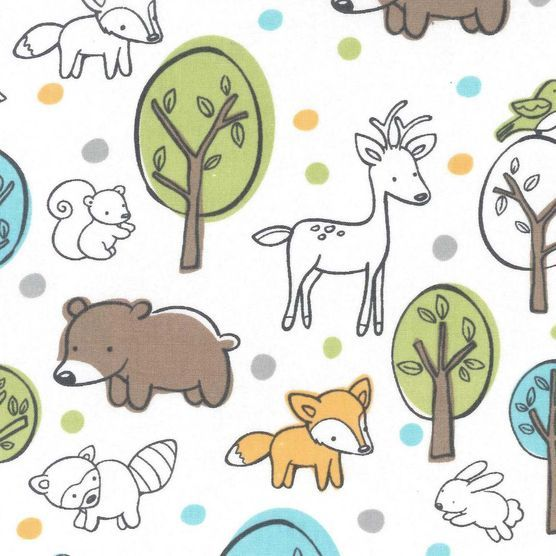 Nursery Fabric- Animals In Woods at Joann.com
