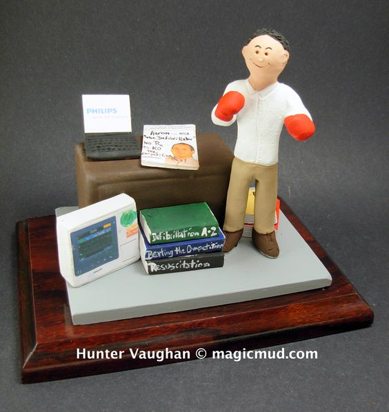 Personalized Christmas Gift for a Husband  www.magicmud.com 1 800 231 9814 creating a custom made gift figurine for any man based on the things he likes to do! ...incorporating his work, sports, family, hobbies, food, drink, electronic gadgets, etc. $225 #dad #men #guys #christmas #birthday #anniversary #custom #personalized #xmas #present #award #ChristmasGift #BirthdayGift #husband