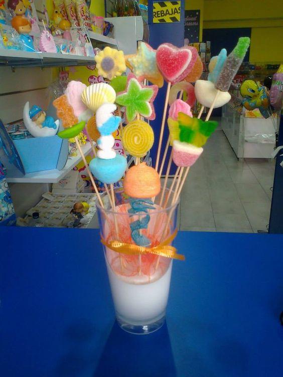 Brochetas dulces para todos los gustos y colores realizadas por