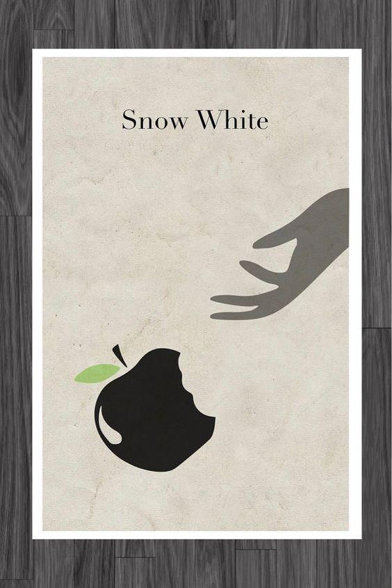 Cuento de hadas blanco nieve cartelismo 11 x 17