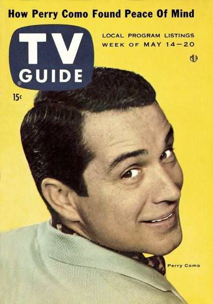 Tv guide may 14 1955 perry como tv guide covers for Perry cr309 s manuale