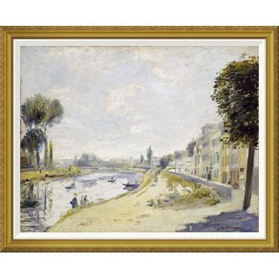 Global Gallery 'The Banks of the Seine' by Pierre-Auguste Renoir Framed Painting Print Size: