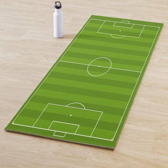 Soccer Field Design Yoga Mat Zazzle Com Yoga Mats Design Yoga Mat Design