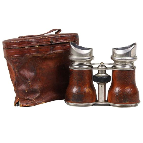 Leather Grip Jockey Club Binoculars with Original Case | From a unique collection of antique and modern nautical objects at https://www.1stdibs.com/furniture/more-furniture-collectibles/nautical-objects/
