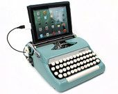 USB Typewriter Computer Keyboard -- Royal Aristocrat from the 1940s -- Rare Mottled Brown Finish. $699,00, via Etsy.