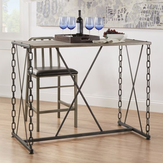 Superbe TRIBECCA HOME Blake Counter Height Metal Chain Link Table | Yes | Pinterest  | Metal Chain, Tables And Small Spaces