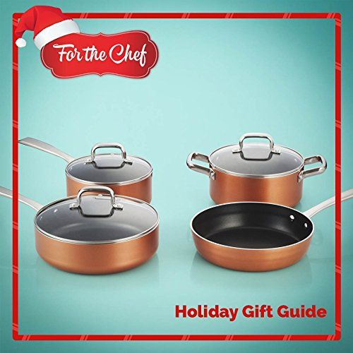 FortheChef 7 Piece Stamped Aluminum Non-Stick Cookware Set | sofa ...