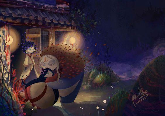 Frère lune et sœur soleil illustration