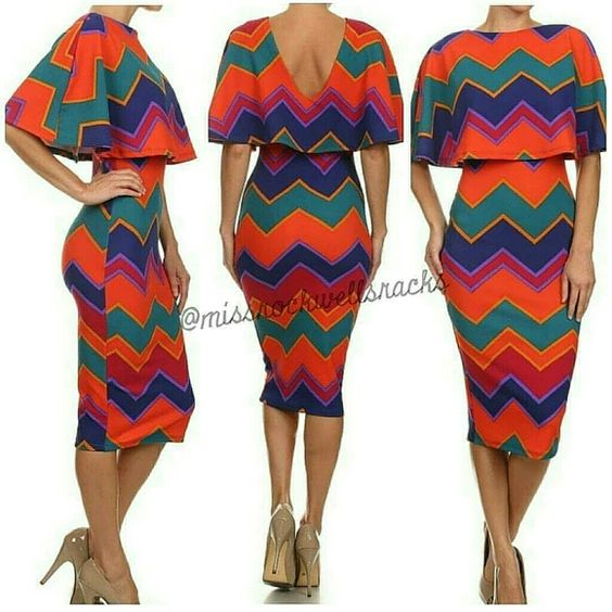 Cheveron Cape Dress Chevron Cape Dress Available in S M L Please request size and I will make a seperate post for you Quantities limited Boutique Dresses