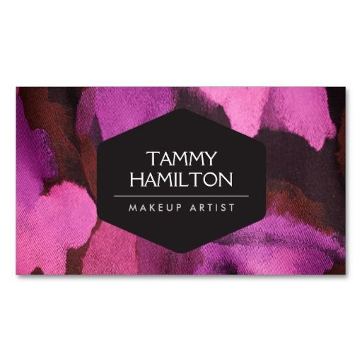 LUXE FASHION BLOGGER, MAKEUP ARTIST, PINK FLORAL BUSINESS CARD TEMPLATE