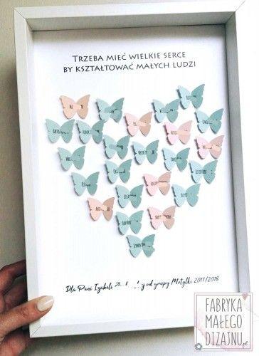 Podziekowanie Dla Nauczyciela Motylki Diy Gifts Frame