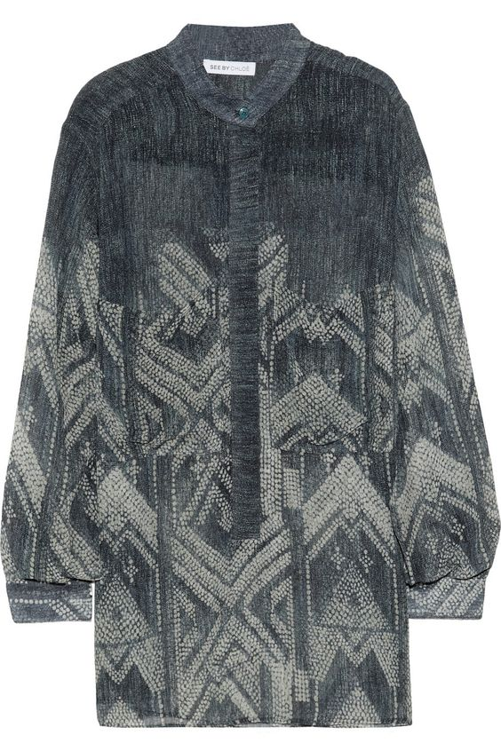 See by Chloé | Yoko printed georgette blouse | NET-A-PORTER.COM