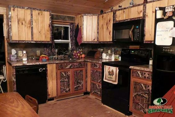 Mossy oak kitchen kitchen pinterest oak kitchens for Camo kitchen ideas