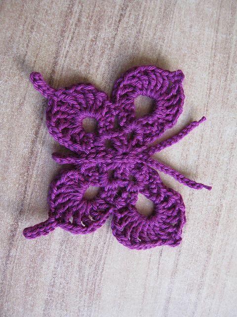 Free pattern, Ravelry and Crochet butterfly on Pinterest