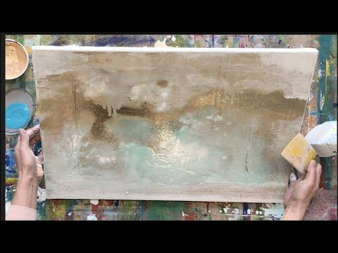 Abstract Painting For Beginners With Acrylic Spatula Simple