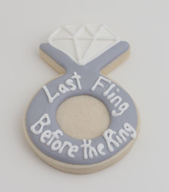 Bachelorette party cookies, wedding ring cookies