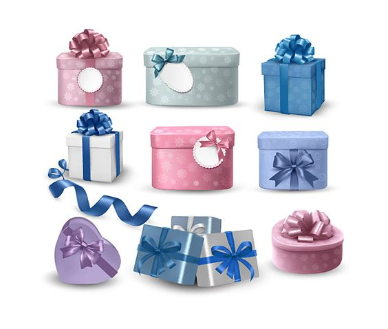 Gift box packaging vector material