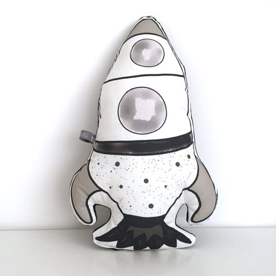 Rocket Cushion by Vanarags on Etsy: