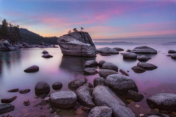 The quiet hour for me is the hour before sunrise when the air and water remain still and the atmosphere is peaceful. This image of the iconic Bonsai Rock in Lake Tahoe Nevada was taken at this serene time of day. It was a pleasure to be there enjoying the colorful sunrise. I hope you like it too. Thanks for looking and I appreciate all your support!