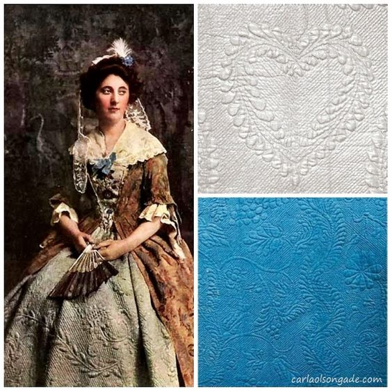 Adventures of the Heart: Writing Scrapbook: Colonial Whole-cloth Quilting